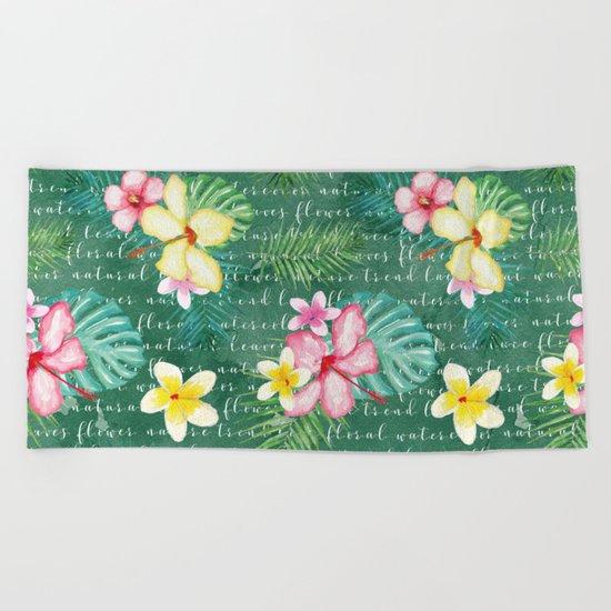 Summer flowers #2 Beach Towel