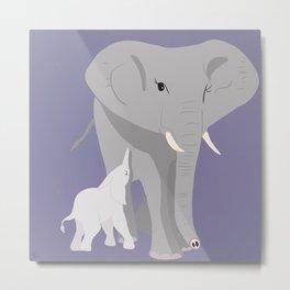 We, the Mamals - Elephant Metal Print