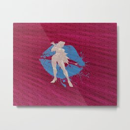 """That ...Um...""""Girl""""...Is Poison (Homage to Poison from """"Final Fight"""" and """"Street Fighter"""") Metal Print"""
