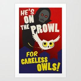 Careless Owls Art Print