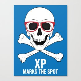 XP Marks the Spot Canvas Print