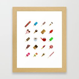 80s Italian ICE CREAM random Framed Art Print