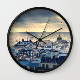 Rooftops in Paris Wall Clock