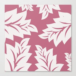 tropical pink leaves Canvas Print