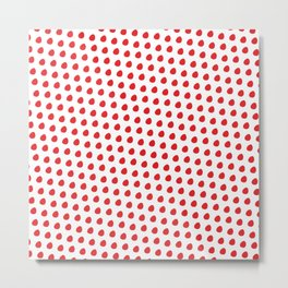 Red Dots On White Background #society6 #decor #buyart #artprint Metal Print