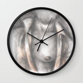 An opening Wall Clock