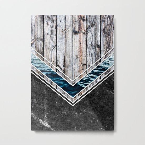 Striped Materials of Nature II Metal Print