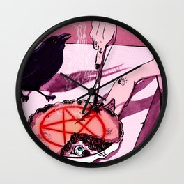 Mrs.Crowley's Old Fashioned Cherry Pie, Digital Version. Wall Clock