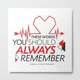 These words Metal Print