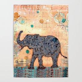 majestic series: elephant mirage Poster