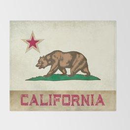 Vintage California Flag Throw Blanket