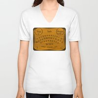 ouija V-neck T-shirts featuring Ouija 3.0 by tuditees