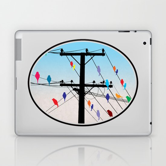 birds blue Laptop & iPad Skin