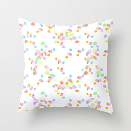 ditsy pop Throw Pillow