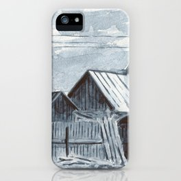 Roofs, grisaille, watercolor iPhone Case