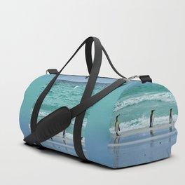 Falkland Island Seascape with Penguins Duffle Bag