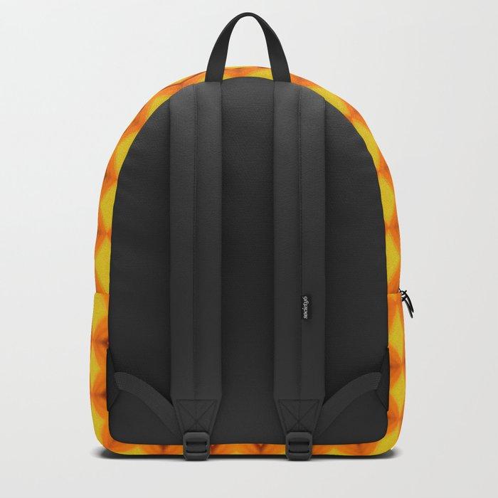 Diamonds II - orange/yellow Backpack