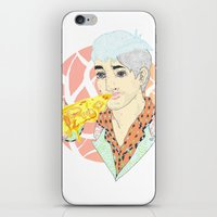 fitness iPhone & iPod Skins featuring His Fitness Regime by percieandbert