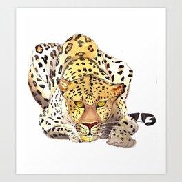 becb935600e4 Watercolor Leopard Art Prints | Society6