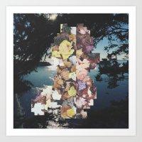 Pixel Leaves 1 Art Print
