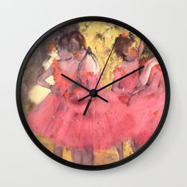 The Pink Dancers Before the Ballet Wall Clock