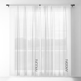 White MOON mission Sheer Curtain