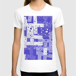 Abstract in blue T-shirt