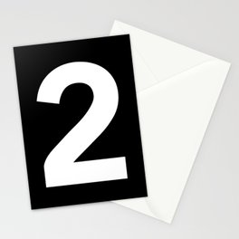 Number 2 (White & Black) Stationery Cards