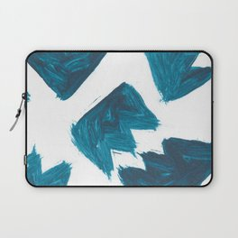 Basquiat Crown, Abstract, Blue Duck Laptop Sleeve