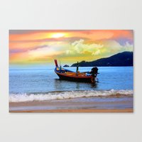 thailand Canvas Prints featuring  thailand by mark ashkenazi