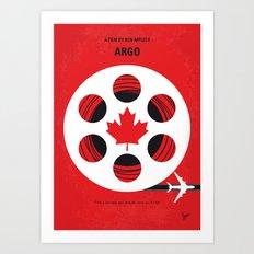 No606 My Argo minimal movie poster Art Print