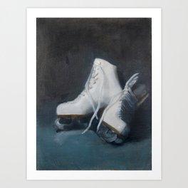 Winter Skates Art Print