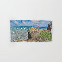 Claude Monet Cliff Walk At Pourville 1882 Hand & Bath Towel