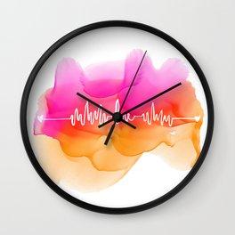 Love Beat Watercolor back Wall Clock