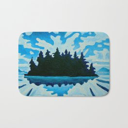 Blue Totem No.2 Bath Mat