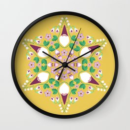 Gnomes in the Garden Wall Clock