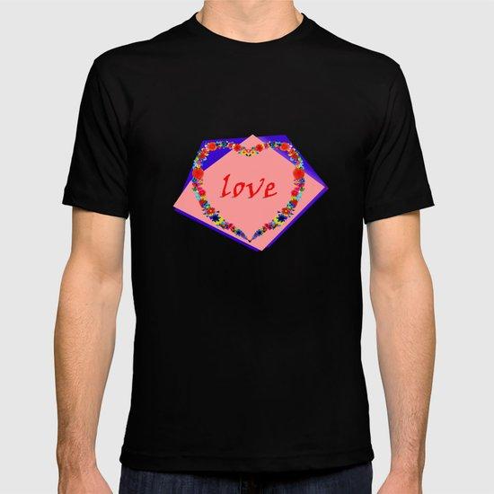 heart of flowers T-shirt