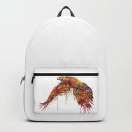 Flying Hawk Watercolor Painting Backpack