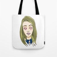 coven Tote Bags featuring Blinded For The Coven by Dan Paul Roberts
