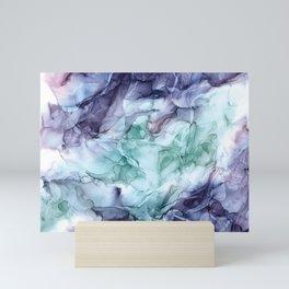 Growth- Abstract Botanical Fluid Art Painting Mini Art Print