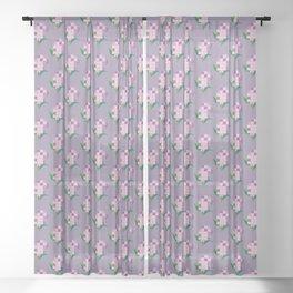 Lilac Sheer Curtain
