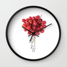Boy with grapes - NatGeo version Wall Clock