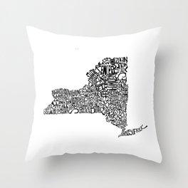 Typographic New York Throw Pillow
