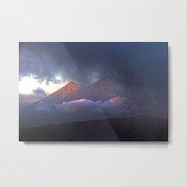 Volcanoes Clouded in Guatemala Metal Print