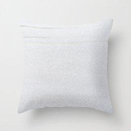 Snow Glitter Throw Pillow