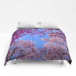 Cherry blossom explosion Comforters