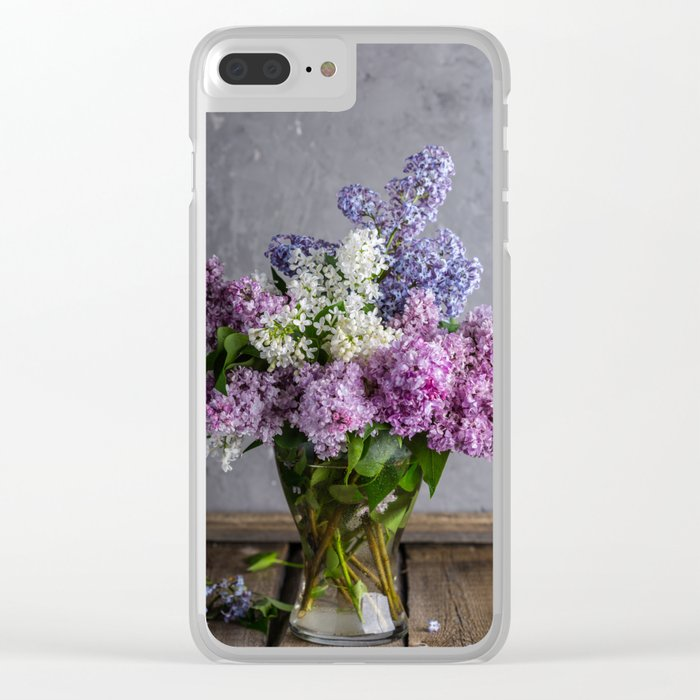 lilac bouquet Clear iPhone Case