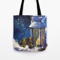 lantern Tote Bags featuring Lantern by TamTamArt