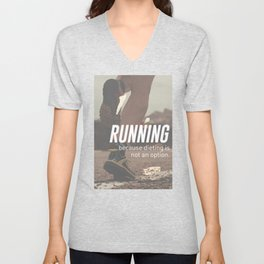 No Diet Just Running Runners Design Unisex V-Neck