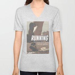 No Diet Just Running Runners Design Unisex V-Neck